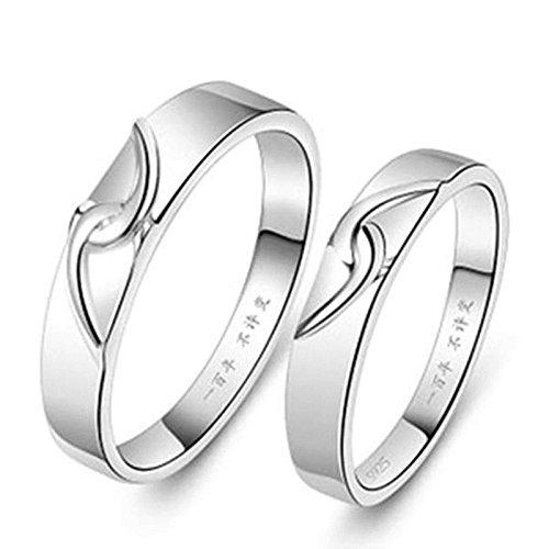 Aokarry Men Wedding Ring Band Interlocking Heart Puzzle Rings Matching Rings 3mm/4mm (Price Unit: 1 PC)