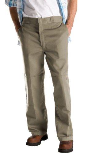 Dickies Men's Big-Tall Loose Fit Double Knee Work Pant, Khaki, 48x34