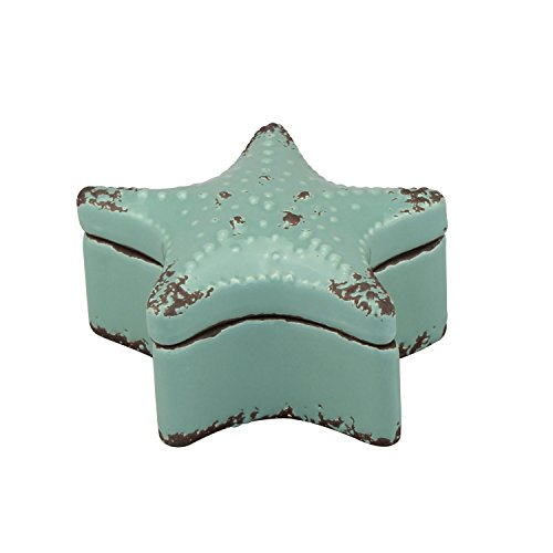 - Stonebriar Small Worn Aqua Starfish Jewelry Box, Decorative Keepsake Trinket Boxes, Fun and Unique Gifts for Birthdays, Christmas, Weddings, or Any Special Occasion