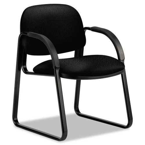 HON Sensible Seating Guest Arm Chair, Tectonic Fabric, Black - BMC-HON 6008NT10T - Chair Black Tectonic Fabric