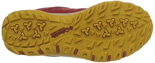 Columbia Fire Venture Low Waterproof, Zapatillas de Deporte Exterior Para Mujer Rojo (Red Dahlia, Bonfire 660Red Dahlia, Bonfire 660)