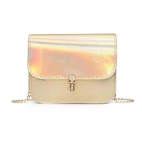 Bag Crossbody Bags Purse Leather Gold Small Women Pink Girls 1 Shoulder Bag Messenger 1 Laser qgUU0Fnt