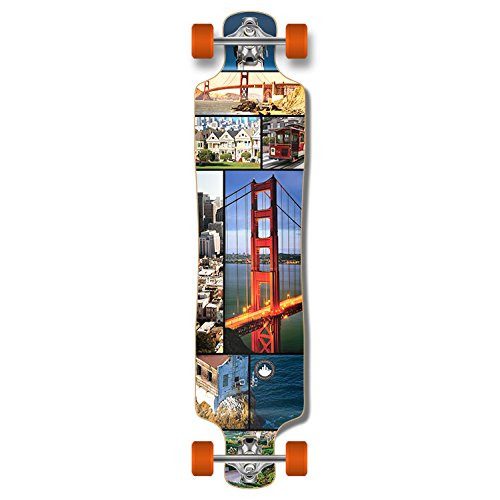 Punked Lowrider Drop down through Longboard Complete skateboard (San Francisco)