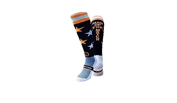 WackySox Naranja y Negro Aro Deportes Calcetines