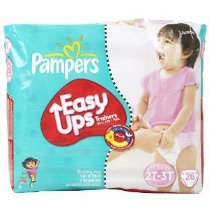 Pampers Easy-Ups Training Pants for Girls - Jumbo Pack Size 2T-3T