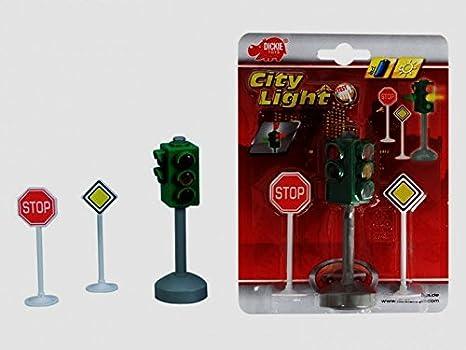 Dickie Toys 203741001 City Traffic Batteriebetriebene Verkehrsampel Mit Verke