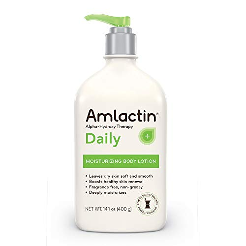 AmLactin Daily Moisturizing Body Lotion | Instantly Hydrates, Relieves Roughness | Powerful Alpha-Hydroxy Therapy Gently Exfoliates | Smooths Rough, Dry Skin | 14.1 oz. with ()