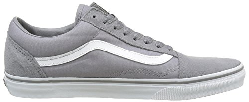 Vans Männer Old Skool Core Classics Wildleder Canvas / Frost Grey / True White