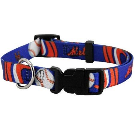 Hunter MFG New York Mets Dog Collar, Large, My Pet Supplies