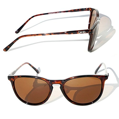 Retro Tortoise Shell Polarized Sunglasses with Amber Lenses by DANG - Sunglasses Dang