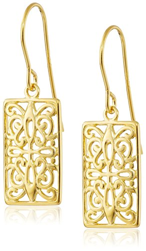 18k Yellow Gold Plated Sterling Silver Celtic Drop Earrings