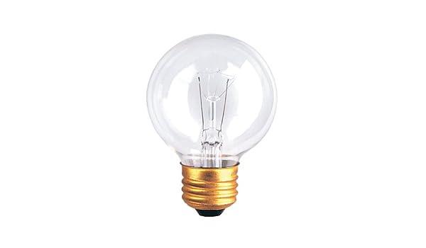 Medium Base White 6PK Bulbrite 310240 40G16EWH 40-Watt Incandescent G16.5 Globe