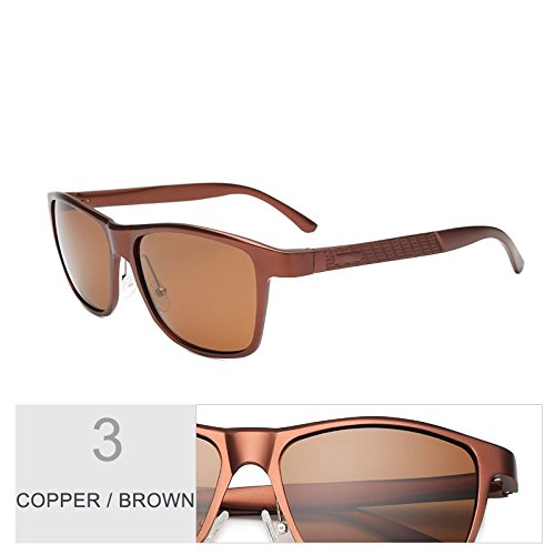 Sol TIANLIANG04 De Hombres De Polarizadas Alluminio Marrón Gafas De Gafas Calidad Brown Magnesio Alta Guía Para Copper Pesca Cobre rRqIfR