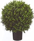 One 2 Foot Outdoor Artificial Boxwood Ball Topiary Bush Potted Uv Plant
