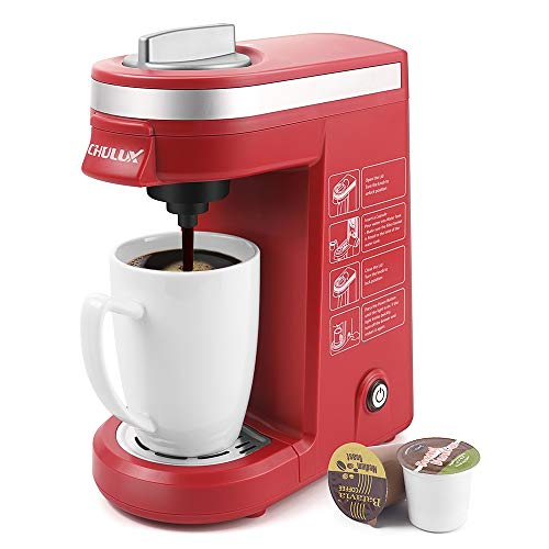 - CHULUX Single Cup Coffee Maker Travel Coffee Brewer,Red