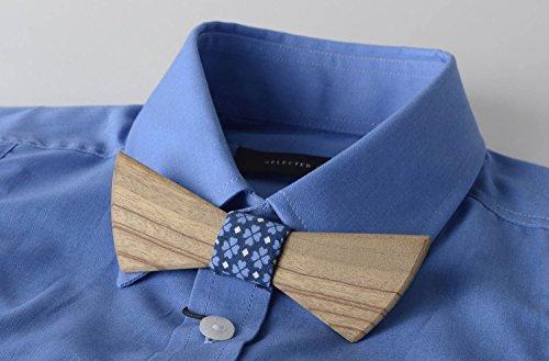 Pajarita moderna hecha a mano de madera corbata de mono accesorio ...