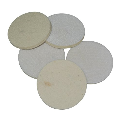 - Supermotorparts 3'' 75mm Wool Felt Polishing Buffing Pad Round Grinding Wheels