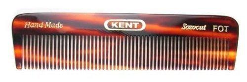 Kent FOT 4 1/2'' 113 mm Handmade Comb. All Fine Pocket Comb (2 PACK) by Kent