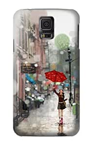 S0108 Girl in The Rain Case Cover for Samsung Galaxy S5