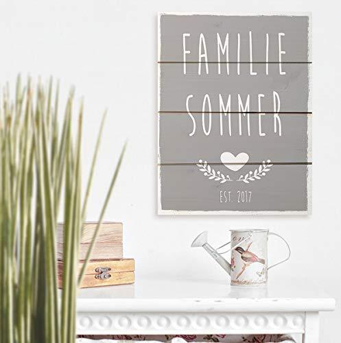 Personalisiertes T/ürschild I Familienschild I Familienname I Holzschild-Familienname I T/ürschild aus Holz I Namensschild I Holzschild Eingang