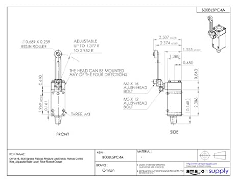 41LBHPrkdbL._SX466_ omron hl 5030 general purpose miniature limit switch, remote  at reclaimingppi.co