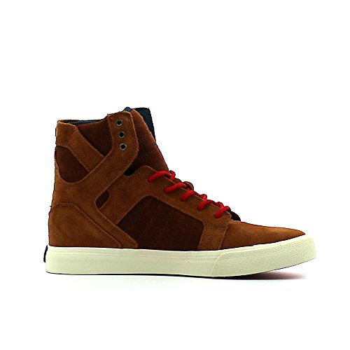 Supra Children (Youths) Skytop Monk Haute Red Off White Skate Shoes