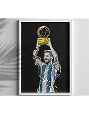 MESSI - PLAYER FOOTBALL FRAME - WALL DECOR - PHOTO FRAME - FIFA