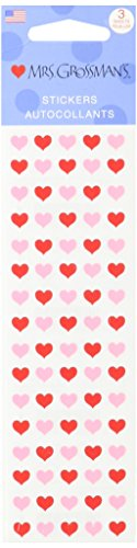Mrs Grossman Stickers-Micro Red and Pink Hearts (Hearts Mini Micro)