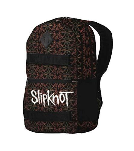 (Slipknot Backpack Skate Bag Pentagram Iowa Band Logo Official Black)