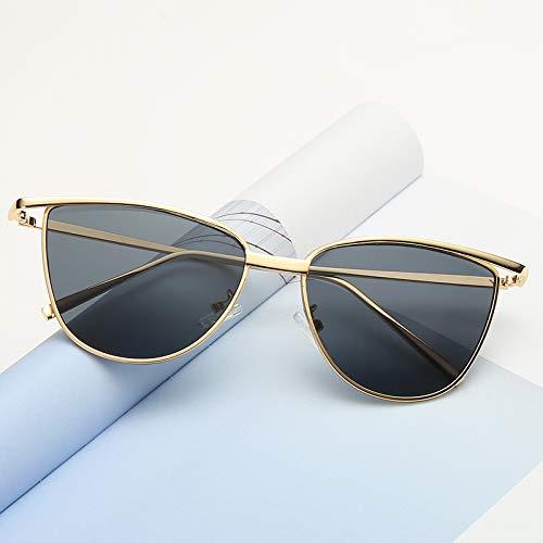 Design Eye Tyjyy Lunettes Mode De Marque Miroir Cat Soleil Bouclier Or Femmes Vintage À Nouvel Luxe Gray Dame La Yq8wH