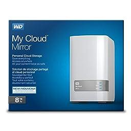 WD 8TB My Cloud Mirror Personal Network Attached Storage - NAS - WDBWVZ0080JWT-NESN