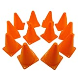 Tytroy Orange 7 in. Sport Outdoor Indoor Training Traffic Safety Soccer Football Sport Activity Cones (12 Pack)