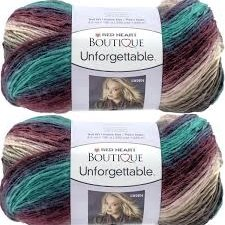 Bulk Buy: Red Heart Boutique Unforgettable Yarn (2-pack) (Tealberry)