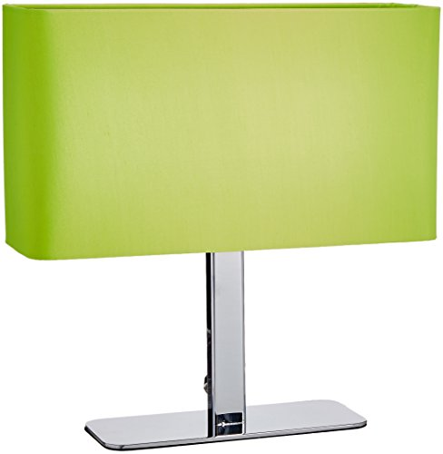 Lite Source LS-21797C/GRN Levon Table Lamp with Green Fabric Shade, Chrome, 15