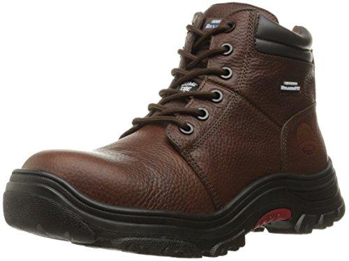 Skechers for Work Women's Burgin Taney Work Boot,Dark Brown,8.5 M US