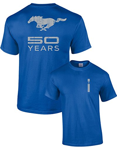 Ford T-Shirt Mustang 50 Years Pony-Royal-XXXL