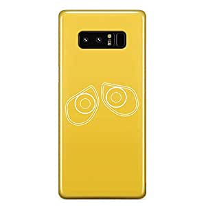 Loud Universe Wall E Cute Face Samsung Note 8 Case Minimal Yellow Samsung Note 8 Cover with 3d Wrap around Edges