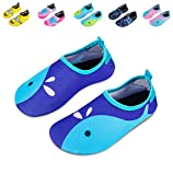 Mabove Kids Swim Water Shoes Non-Slip Quick Dry Barefoot Aqua Pool Socks Shoes for Boys & Girls Toddler (Blue Whale, 18/19EU): more info