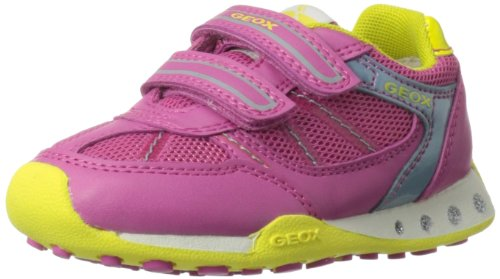 Geox JR New Jocker Retro Sneaker (Toddler/Little Kid/Big Kid),Fuchsia,34 EU(3 M US Little Kid)