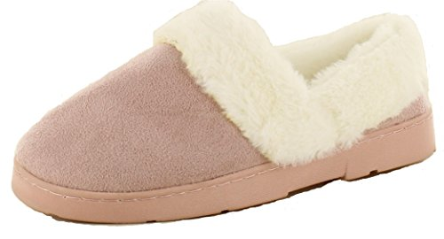 7 Shoes Fit Good Size Deena Clogs Lined Keller Wide Women's 5 Slippers Machine 6 Fur Soles Pink 3 4 Size Washable Ladies Mules Faux House Dr 8 Warm FUqR1wY57