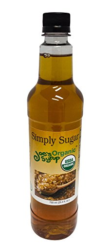 - Joe's Syrup Organic Flavored Syrup, Organic Simply Sugar, 750 ml