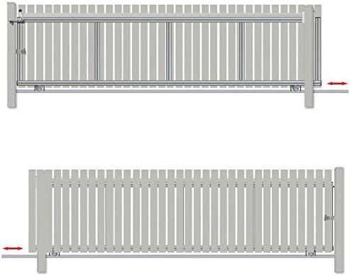 Bauer – Puerta corredera montar H=100, B=430, Plateado: Amazon.es: Bricolaje y herramientas