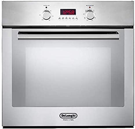 8 Function Built-in Oven - Perfect for Turbo Cooking, Baking, and Grilling - Suitable for Under Countertop Installation (Silver)