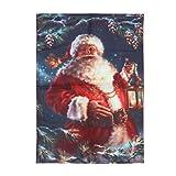 30x45cm Christmas Digital Flag Banner Xmas Polyester Garden flag Decorative Banner Festival Party Supplies (Santa Claus)