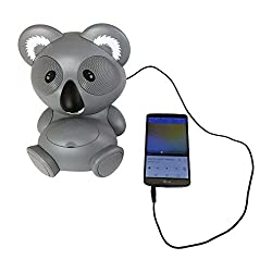 Impecca AS602 6-Watt Universal Portable Stereo Speaker with Aux-Input and 30-Pin Dock, Koala Character
