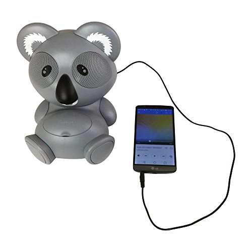 Ipod Speakers Docking Station - Impecca AS602 6-Watt Universal Portable Stereo Speaker with Aux-Input and 30-Pin Dock, Koala Character