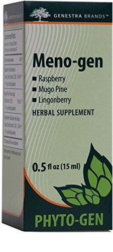 Genestra Brands – Meno-gen – Raspberry, Mugo Pine, and Lingonberry Herbal Supplement – 0.5 fl oz (15 ml)