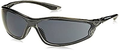 Crossfire 3441 KP6 Safety Glasses Smoke Lens - Crystal Black Frame
