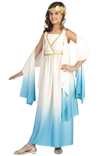 Greek Goddess Child Costume Size Medium (8-10) Beige -