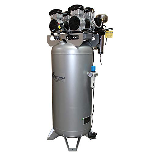 California Air Tools 60040DCAD Ultra Quiet & Oil-Free 4.0 Hp, 60.0 Gal. Steel Tank Air Compressor with Air Drying System & Auto Drain